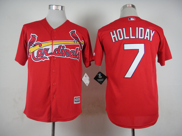 Men St. Louis Cardinals 7 Holliday Red MLB Jerseys