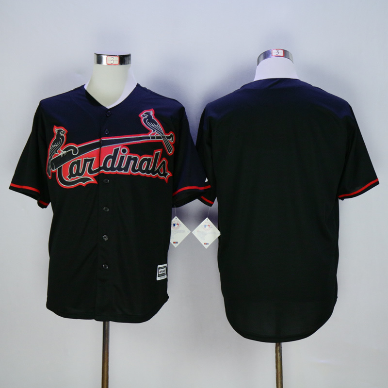 Men St. Louis Cardinals Blank Black MLB Jerseys