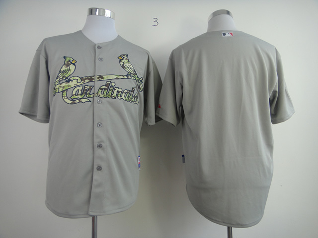 Men St. Louis Cardinals Blank Grey Camo MLB Jerseys