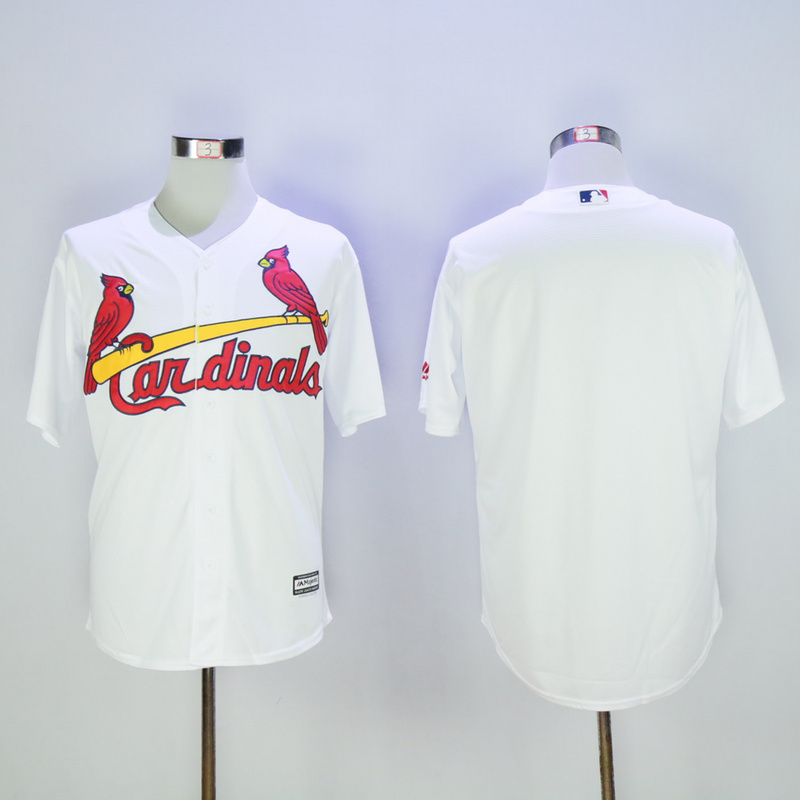 Men St. Louis Cardinals Blank White Game MLB Jerseys