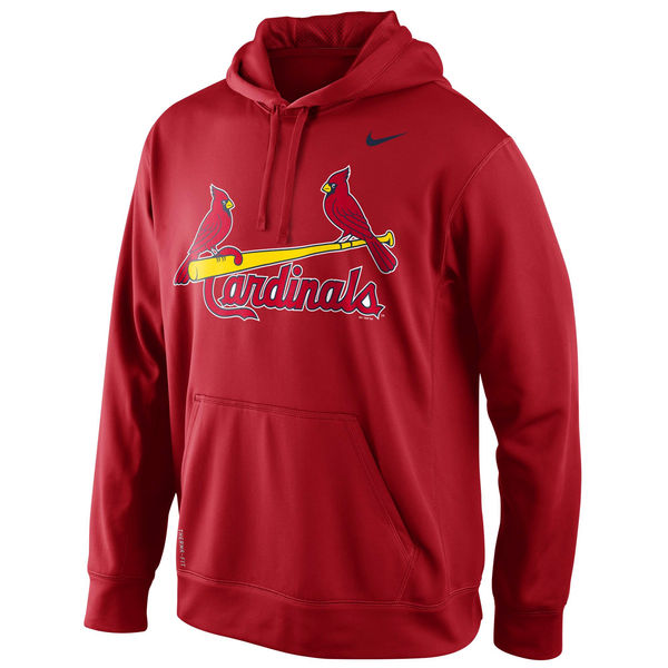 Men St. Louis Cardinals Nike KO Wordmark Perfomance Hoodie Red