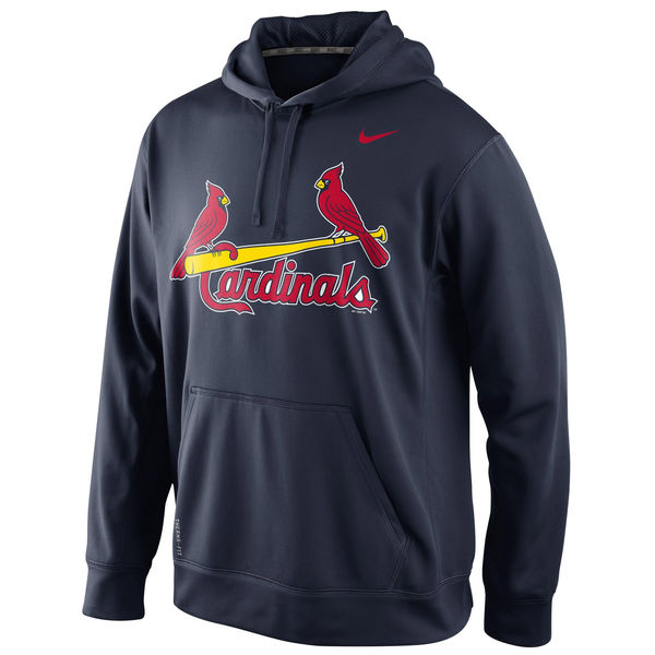 Men St. Louis Cardinals Nike KO Wordmark Performance Hoodie Navy