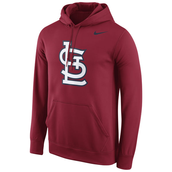 Men St. Louis Cardinals Nike Logo Performance Pullover Hoodie Red