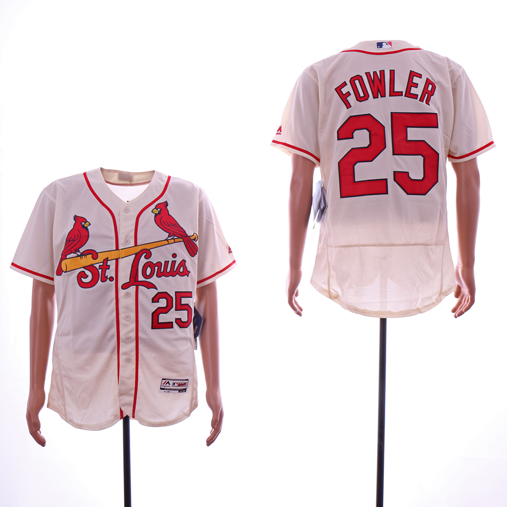 Men St.Louis Cardinals 25 Fowler White Elite MLB Jerseys