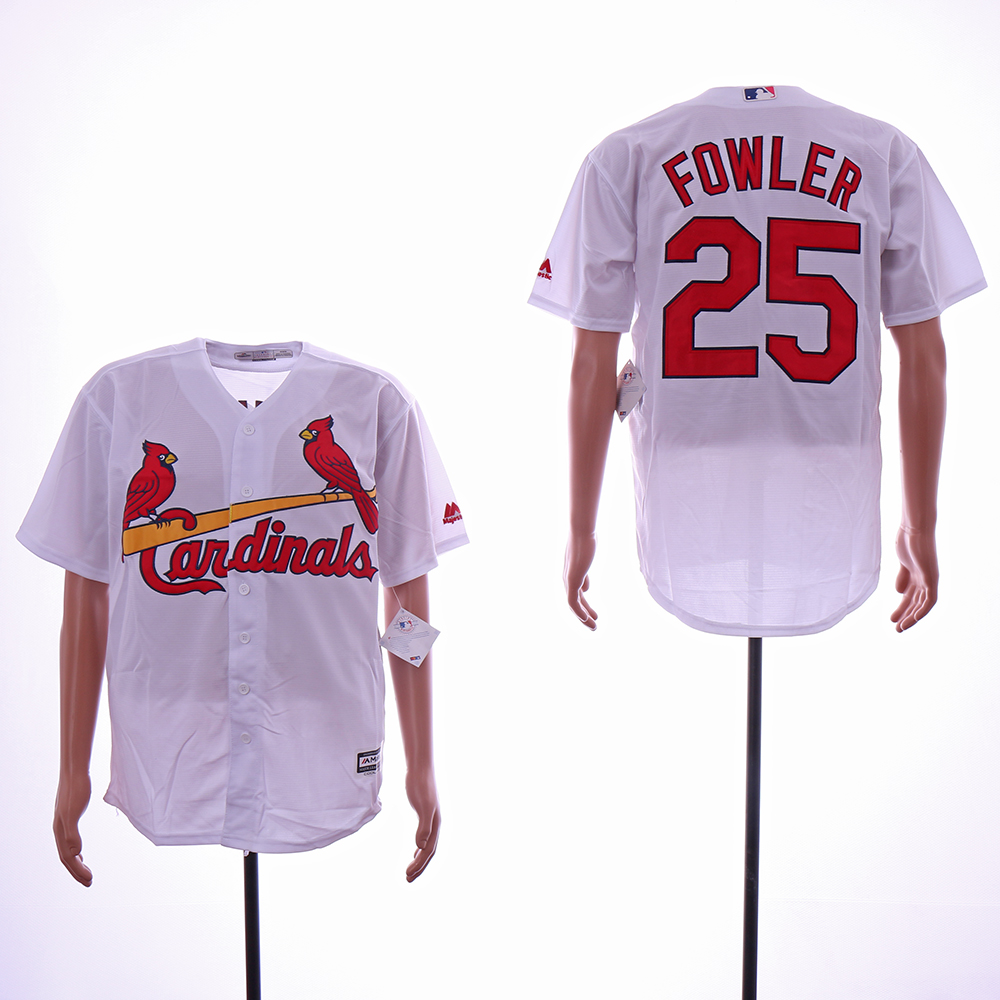Men St.Louis Cardinals 25 Fowler White Game MLB Jerseys