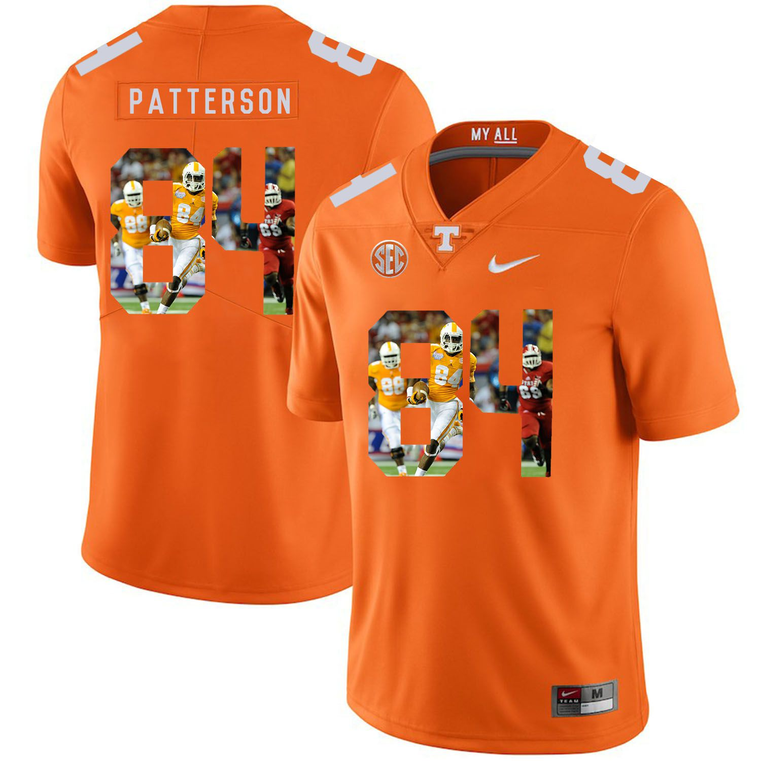 Men Tennessee Volunteers 84 Patterson Orange Fashion Edition Customized NCAA Jerseys