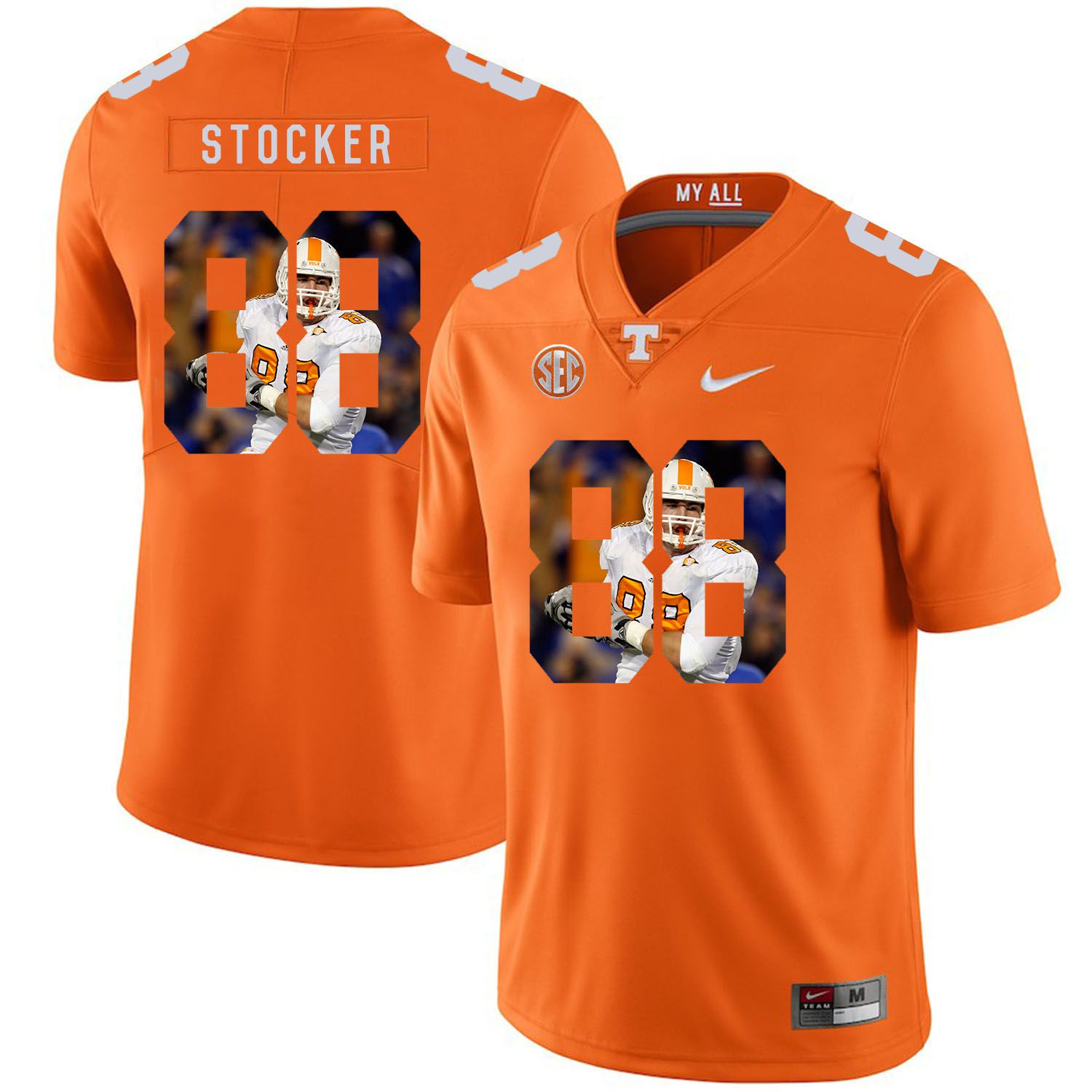 Men Tennessee Volunteers 88 Stocker Orange Fashion Edition Customized NCAA Jerseys