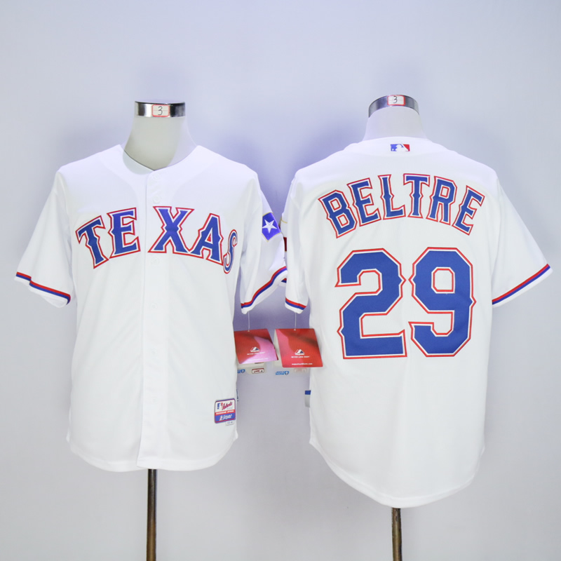 Men Texas Rangers 29 Beltre White MLB Jerseys