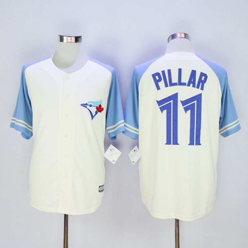 Men Toronto Blue Jays 11 Pillar Cream MLB Jerseys