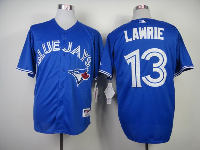 Men Toronto Blue Jays 13 Lawrie Blue MLB Jerseys