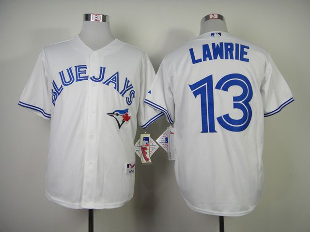 Men Toronto Blue Jays 13 Lawrie White MLB Jerseys