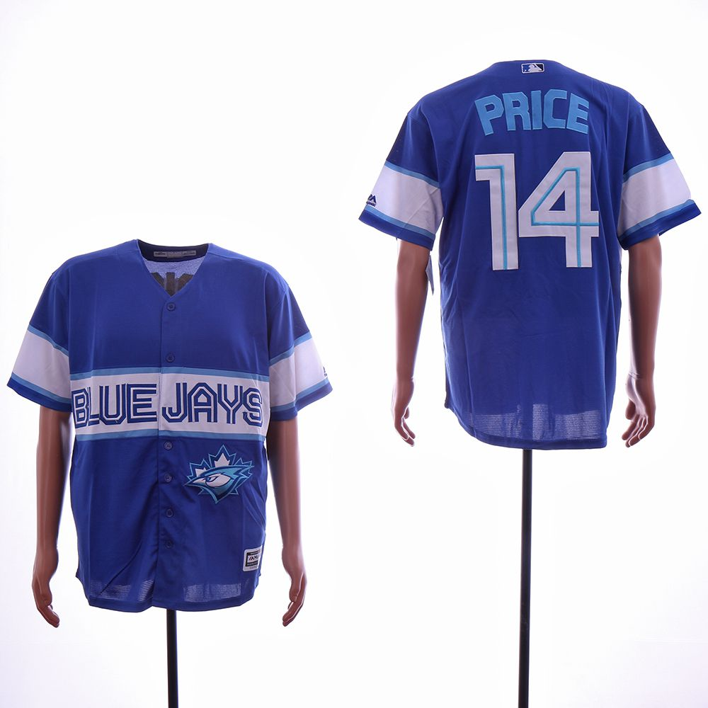 Men Toronto Blue Jays 14 Price Blue Game MLB Jerseys