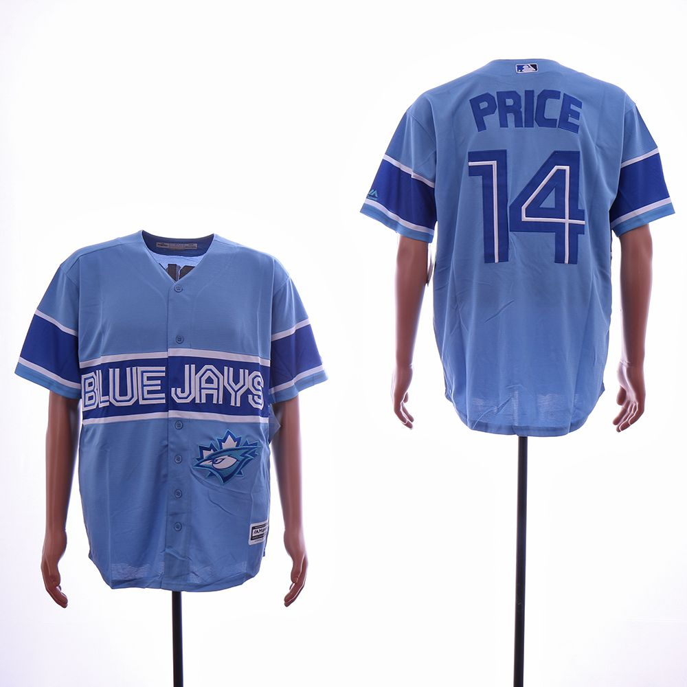 Men Toronto Blue Jays 14 Price Light Blue Game MLB Jerseys