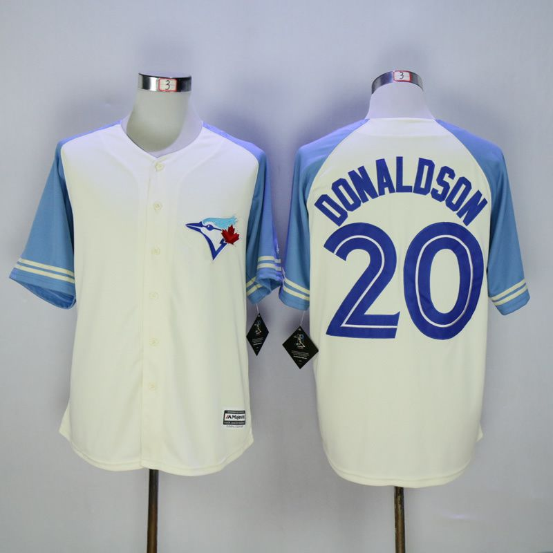 Men Toronto Blue Jays 20 Donaldson Cream MLB Jerseys