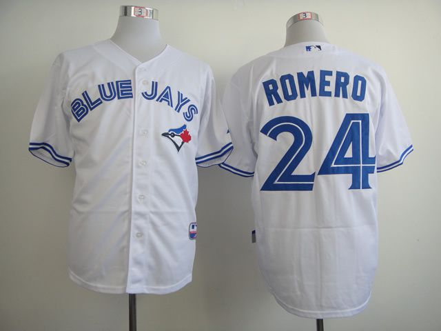Men Toronto Blue Jays 24 Romero White MLB Jerseys