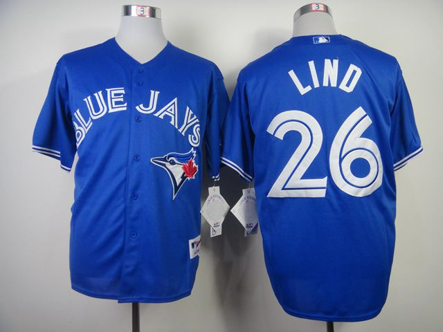 Men Toronto Blue Jays 26 Lind Blue MLB Jerseys