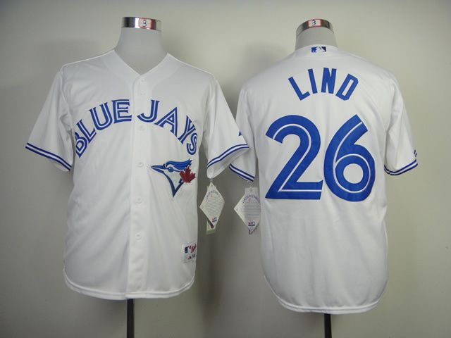 Men Toronto Blue Jays 26 Lind White MLB Jerseys