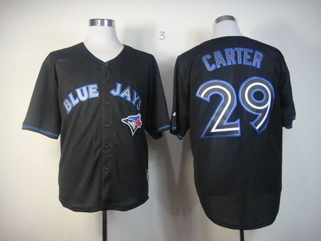 Men Toronto Blue Jays 29 Carter Black MLB Jerseys