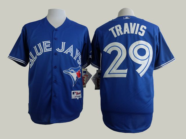 Men Toronto Blue Jays 29 Travis Blue MLB Jerseys