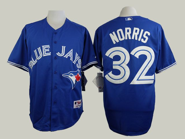 Men Toronto Blue Jays 32 Norris Blue MLB Jerseys