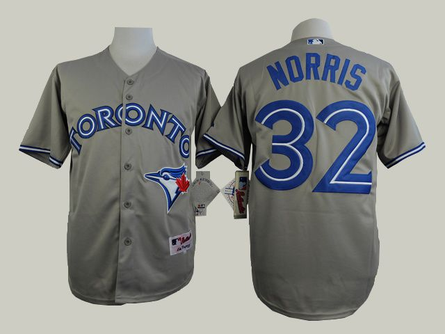 Men Toronto Blue Jays 32 Norris Grey MLB Jerseys
