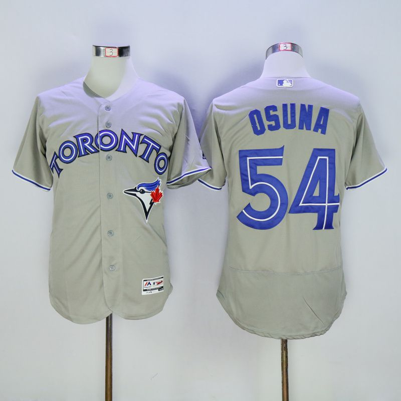 Men Toronto Blue Jays 54 Osuna Grey MLB Jerseys