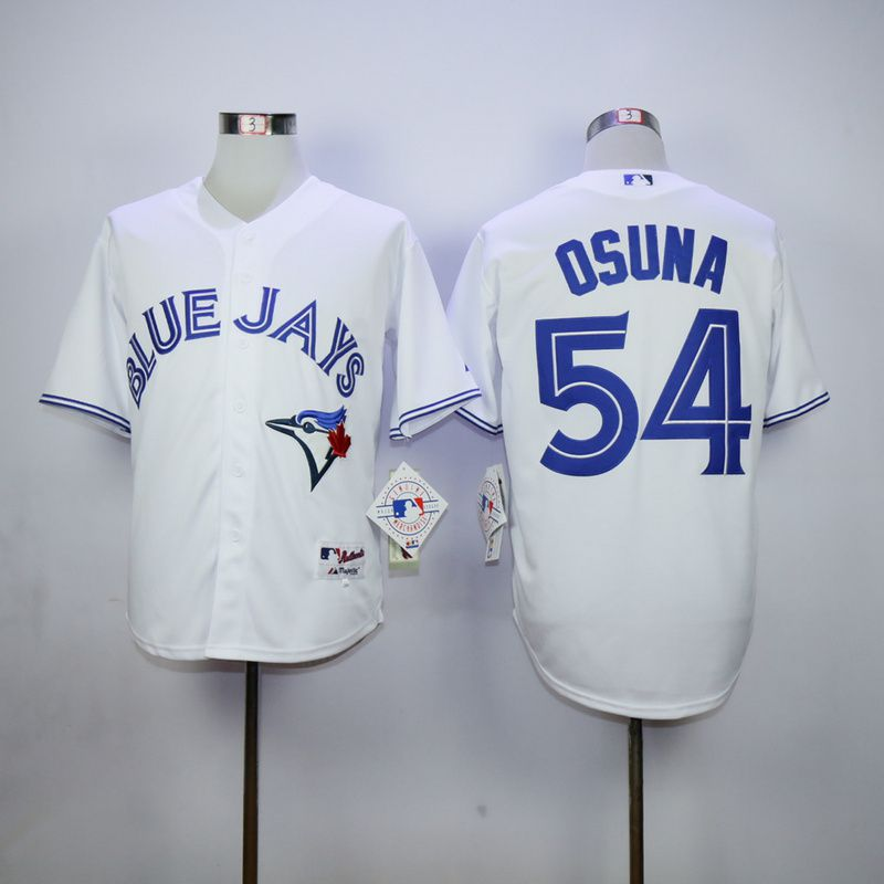Men Toronto Blue Jays 54 Osuna White MLB Jerseys
