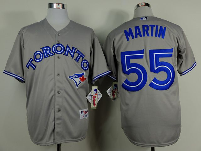 Men Toronto Blue Jays 55 Martin Grey MLB Jerseys