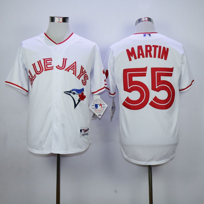 Men Toronto Blue Jays 55 Martin White red MLB Jerseys