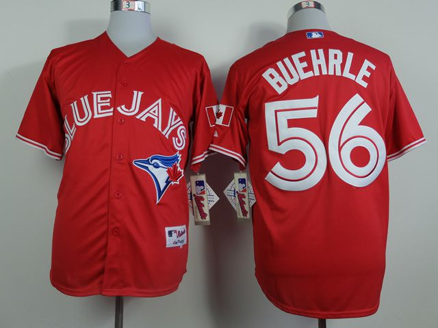 Men Toronto Blue Jays 56 Buehrle Red MLB Jerseys