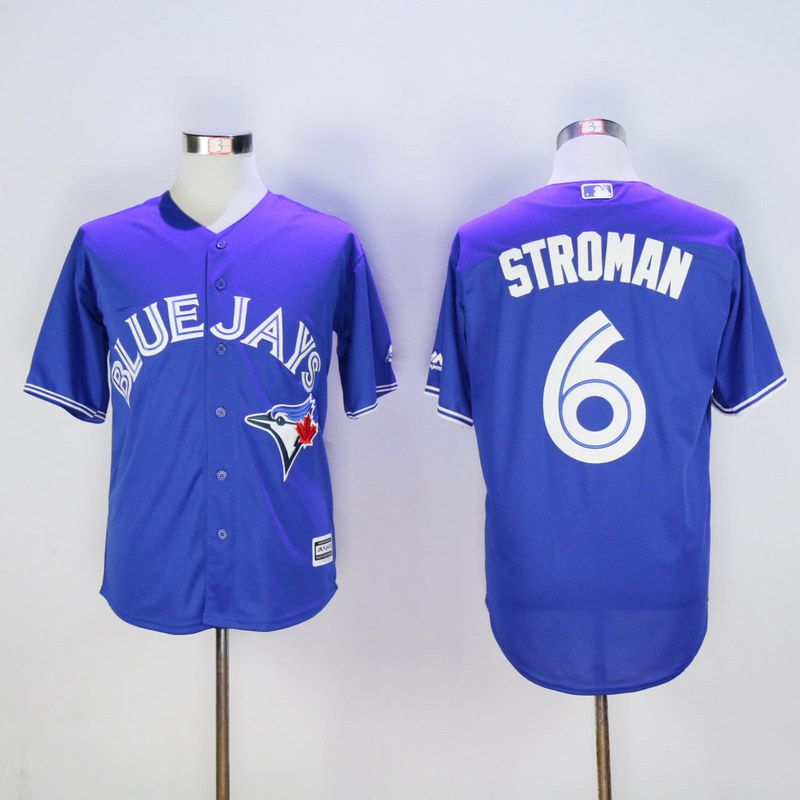 Men Toronto Blue Jays 6 Stroman Blue MLB Jerseys