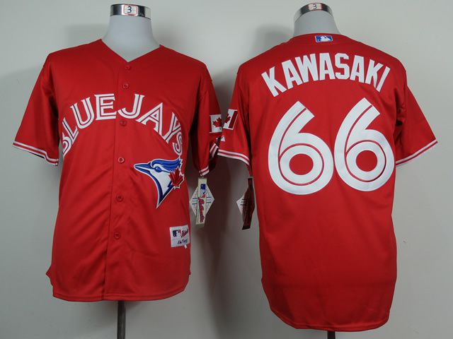 Men Toronto Blue Jays 66 Kawasaki Red MLB Jerseys