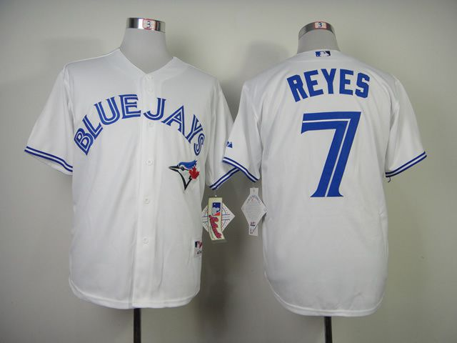 Men Toronto Blue Jays 7 Reyes White MLB Jerseys