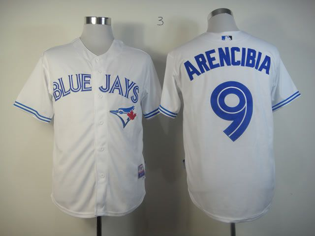 Men Toronto Blue Jays 9 Arencibia White MLB Jerseys