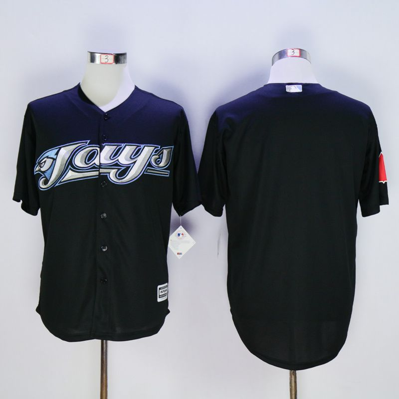 Men Toronto Blue Jays Blank Black MLB Jerseys