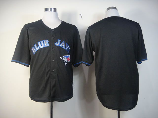 Men Toronto Blue Jays Blank Black MLB Jerseys1