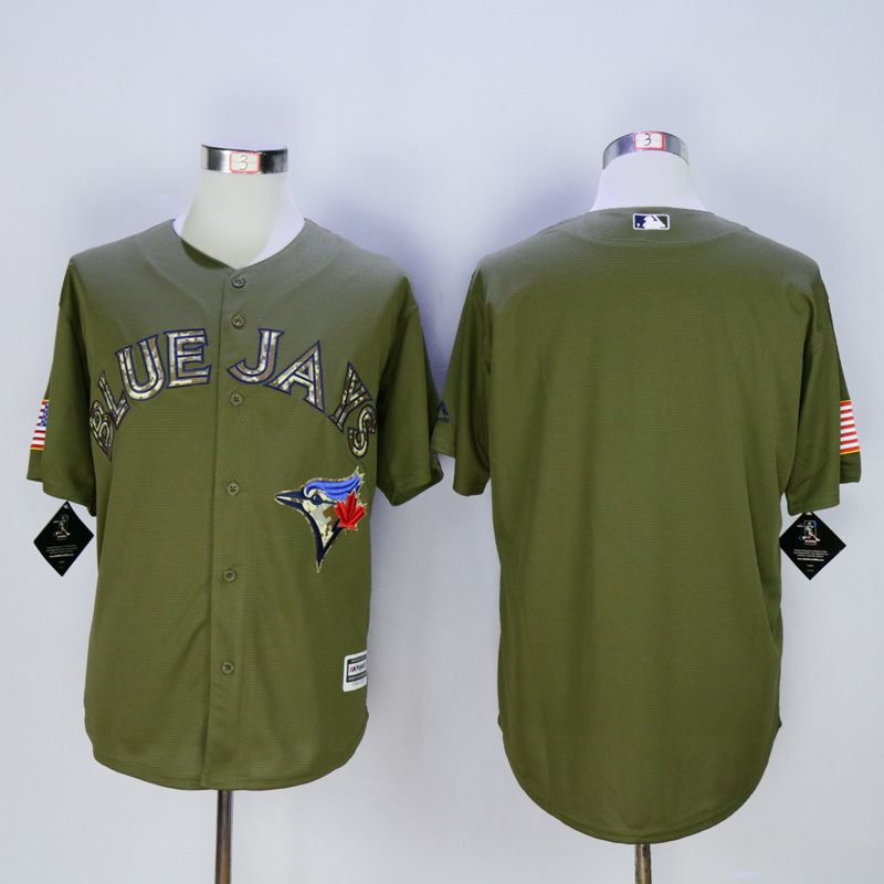 Men Toronto Blue Jays Blank Green MLB Jerseys
