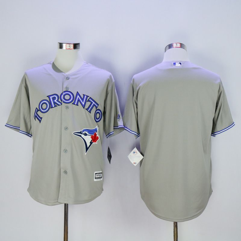 Men Toronto Blue Jays Blank Grey MLB Jerseys