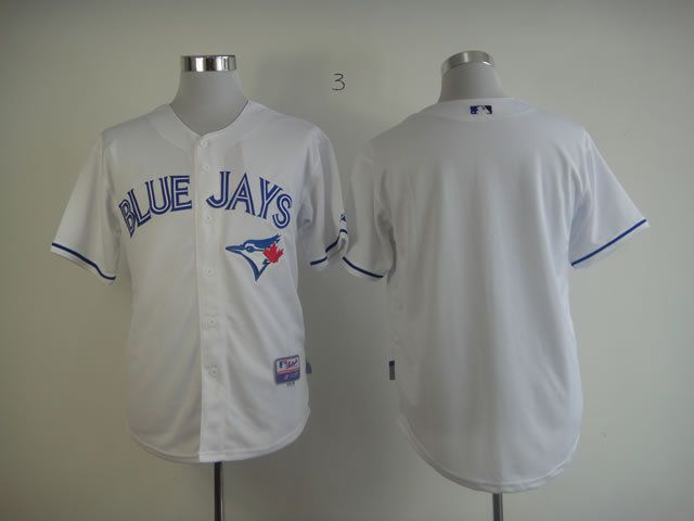 Men Toronto Blue Jays Blank White MLB Jerseys