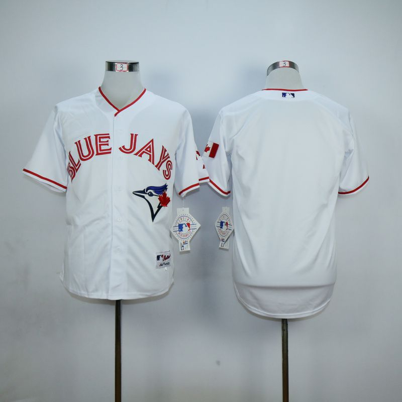 Men Toronto Blue Jays Blank White red MLB Jerseys