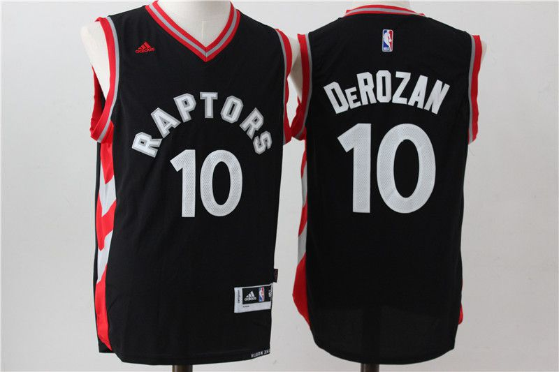 Men Toronto Raptors 10 Derozan Black Adidas NBA Jerseys