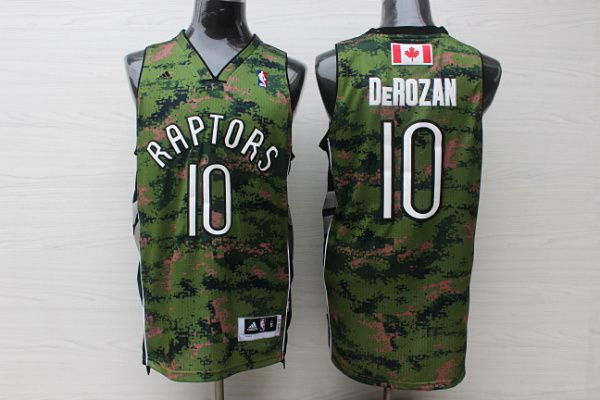 Men Toronto Raptors 10 Derozan Camo Adidas NBA Jerseys