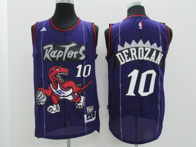 Men Toronto Raptors 10 Derozan Purple Adidas NBA Jerseys