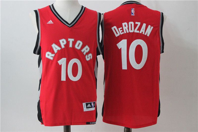 Men Toronto Raptors 10 Derozan Red Adidas NBA Jerseys