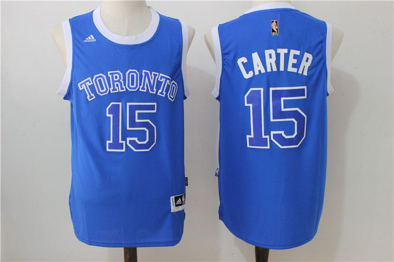 Men Toronto Raptors 15 Carter Blue Adidas NBA Jerseys