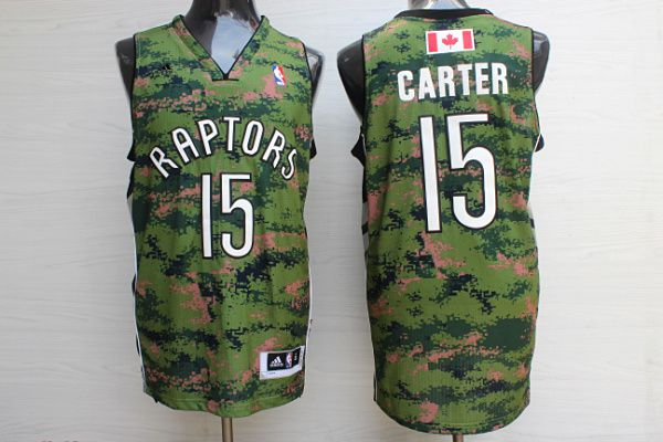 Men Toronto Raptors 15 Carter Camo Adidas NBA Jerseys