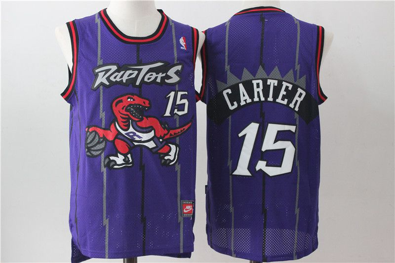 Men Toronto Raptors 15 Carter Purple NBA Jerseys