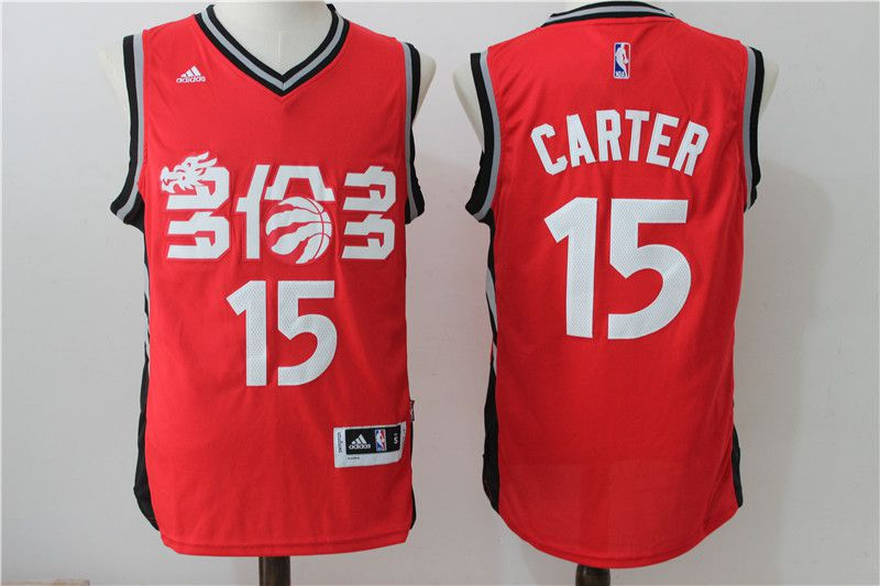 Men Toronto Raptors 15 Carter Red Adidas NBA Jerseys