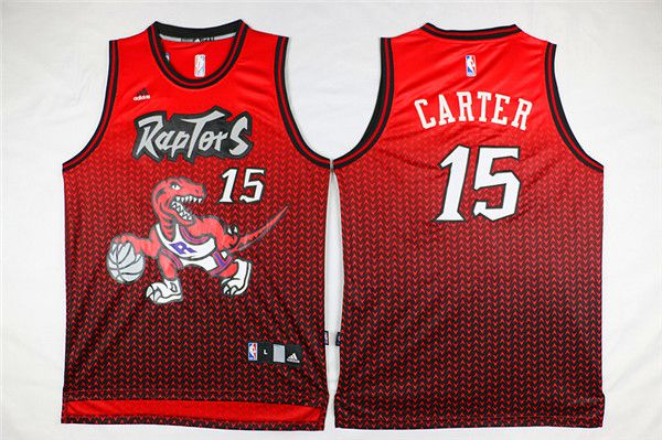 Men Toronto Raptors 15 Carter Red Drift Adidas NBA Jerseys
