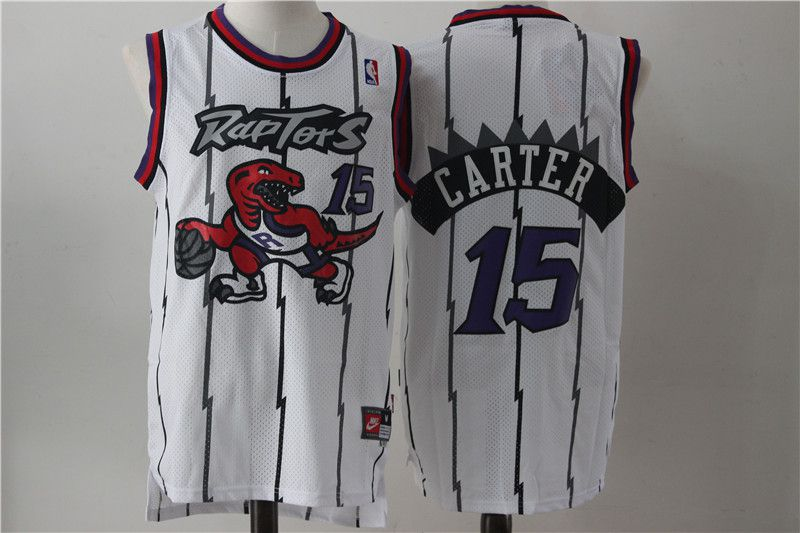 Men Toronto Raptors 15 Carter White NBA Jerseys